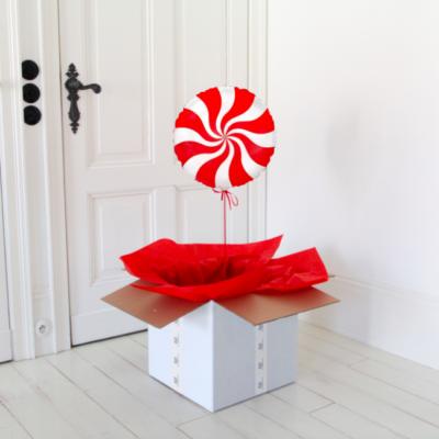 balon cukierek czerwony