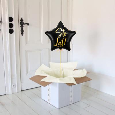 Balon w pudełku gwiazdka sto lat