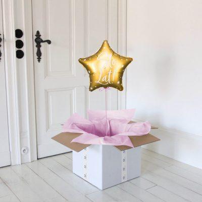 sot lat gwiazdka pink balon w pudełku